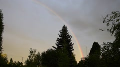 Rainbow after rain Stock Footage