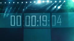 Countdown concert Stock Footage