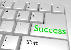 Stock Illustration of Success keyboard button