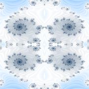 Abstract decorative ornamental blue white fractal pattern - stock illustration