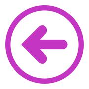 Stock Illustration of Arrow Left flat violet color rounded raster icon