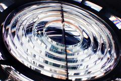 Glass lens of the lighthouse - stock photo