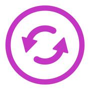 Refresh Ccw flat violet color rounded raster icon Stock Illustration