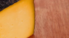 chunk of aged french gruyere - stock footage