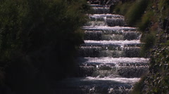 FISH LADDER IN SCENIC NORTHWEST RIVER Stock Footage