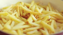 Home made french fries Stock Footage