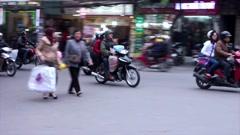 City street view on hanoi, in Vietnam Stock Footage
