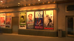 Several Theatre Posters at the Shubert Theatre NYC [Broadway40] - stock footage