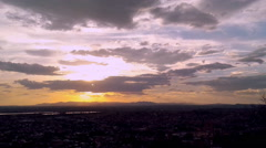Time-lapse Sunset in San Miguel de Allende Stock Footage