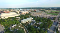 Aerial video Downtown Oklahoma City park 8 Stock Footage