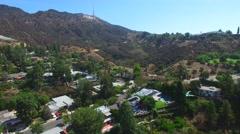 Aerial video Hollywood Holls California 6 Stock Footage