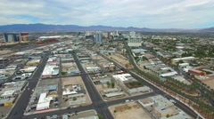 Aerial video Downtown Las Vegas Stock Footage