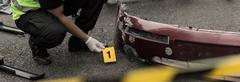 Stock Photo of Accident scene investigation
