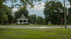 Monroe Connecticut Town Green & Gazebo, intersection Stock Footage