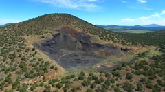 Aerial video of a mountain in Arizona 4 - stock footage