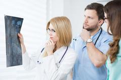 Afraid physicians Stock Photos