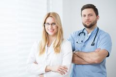 Experienced physicians Stock Photos