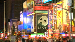 Zoom in to Broadway Avenue's Street sign [Broadway52] Stock Footage