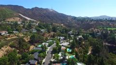 Aerial video Hollywood Holls California 5 Stock Footage