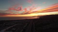 Aerial sunset Stock Footage