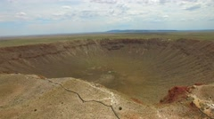 Meteor Crater aerial video 2 Stock Footage