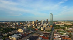 Aerial video Downtown Oklahoma City park 14 Stock Footage