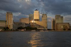 Canary Wharf Financial District - stock photo