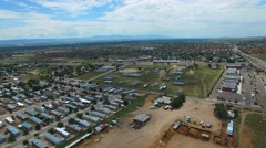 Aerial video trailer park New Mexico Stock Footage