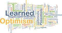 Stock Illustration of Learned optimism background concept