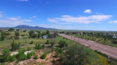Aerial video of Santa Rosa New Mexico Stock Footage