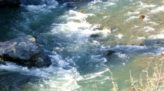 4k - Rapids on mountain river 02 Stock Footage