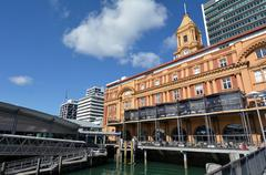 Auckland Ferry Terminal - New Zealand - stock photo