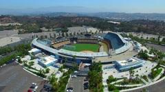 Aerial video Dodgers Stadium 3 Stock Footage