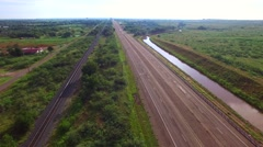 Aerial video old route 66 4 Stock Footage