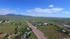 Aerial video of Santa Road New Mexico 2 Stock Footage