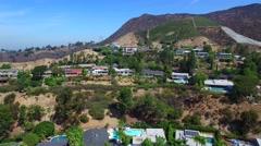 Aerial video Hollywood Holls California 4 Stock Footage