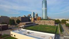 Aerial video Downtown Oklahoma City Stock Footage