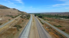 Aerial video San Ardo California 3 Stock Footage