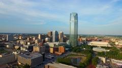 Aerial video Downtown Oklahoma City park 13 - stock footage