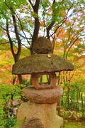 Stone lantern Of Jojakuko-ji Temple Stock Photos