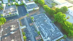 Aerial video of an industrial park Stock Footage