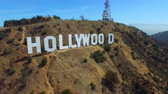 Aerial video Hollywood California sign 4 - stock footage