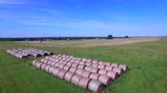 Aerial video of farmland in Oklahoma USA 2 Stock Footage