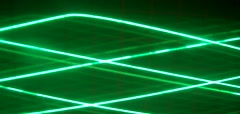 Triangular movement lines color green Stock Footage