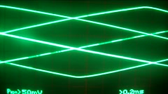 Electronic movement triangular color green Stock Footage