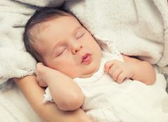 Stock Photo of Sleeping baby