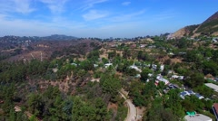 Aerial video Hollywood Hills California 3 Stock Footage