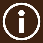 Stock Illustration of Info flat white color rounded raster icon