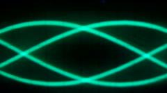 Slow oscilloscope effect movement Stock Footage
