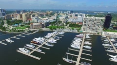 Aerial video of West Palm Beach FL Stock Footage
